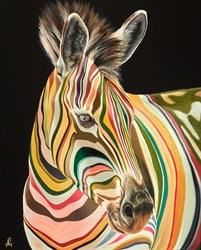 Showstopper by Hayley Goodhead - Original Painting on Box Canvas sized 24x30 inches. Available from Whitewall Galleries